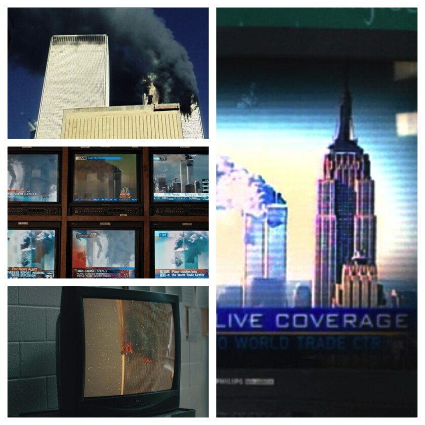 Images of the terrorist attacks of Sept. 11, 2001, in four recent TV shows.