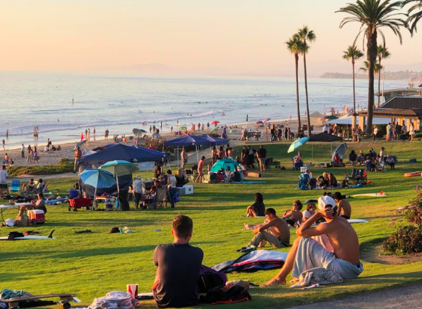 Coastal temperatures climbed into the 80s over the weekend in San Diego County