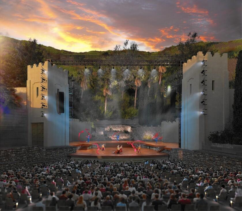 The venerable outdoor arena, which has been having renovations, is seen in an artist's rendering.