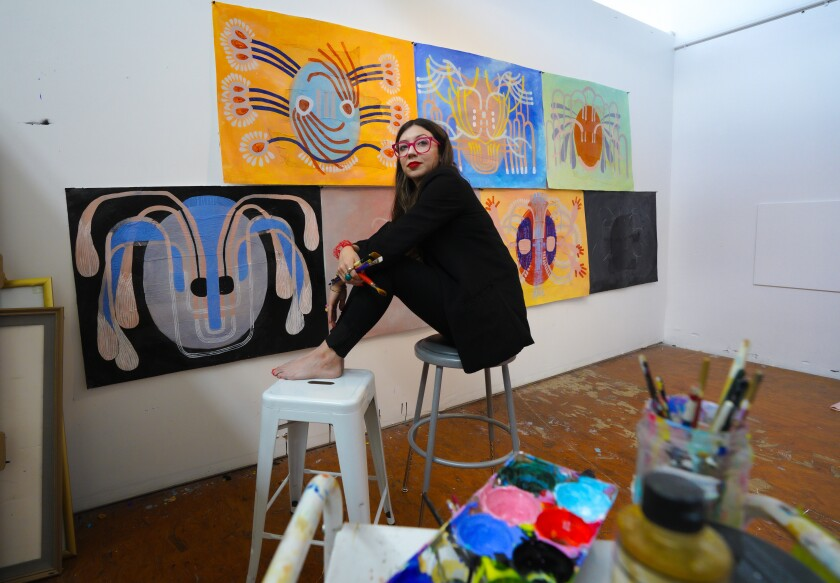 Artist Catalina Bellizzi-Itiola, whose work will be exhibited at Swish Projects in North Park.