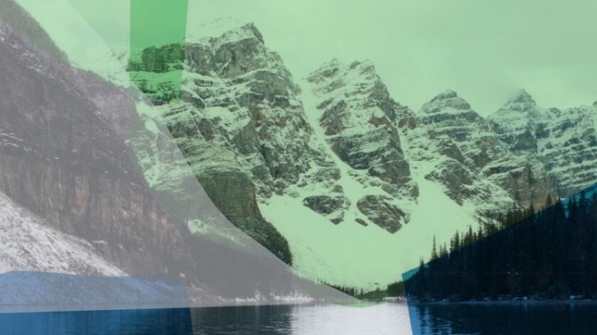 "Detail of Katie Shapiro's ""Green Moraine."" The work is shown full frame below."