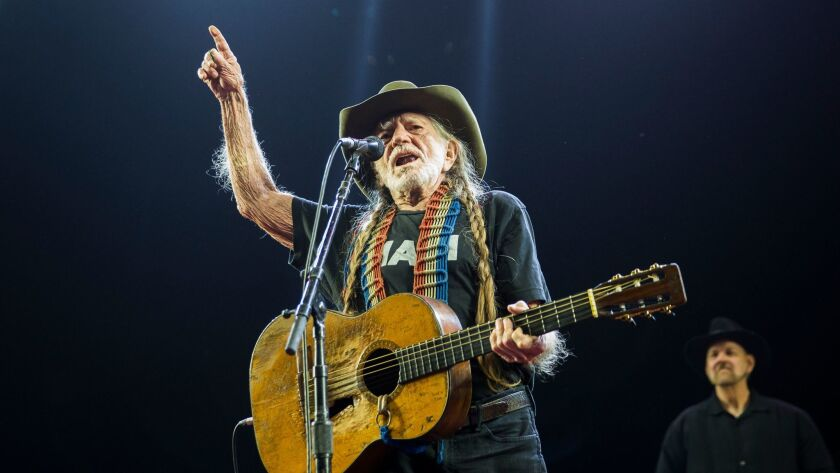 Willie Nelson performing Saturday at the Stagecoach country music festival in Indio.