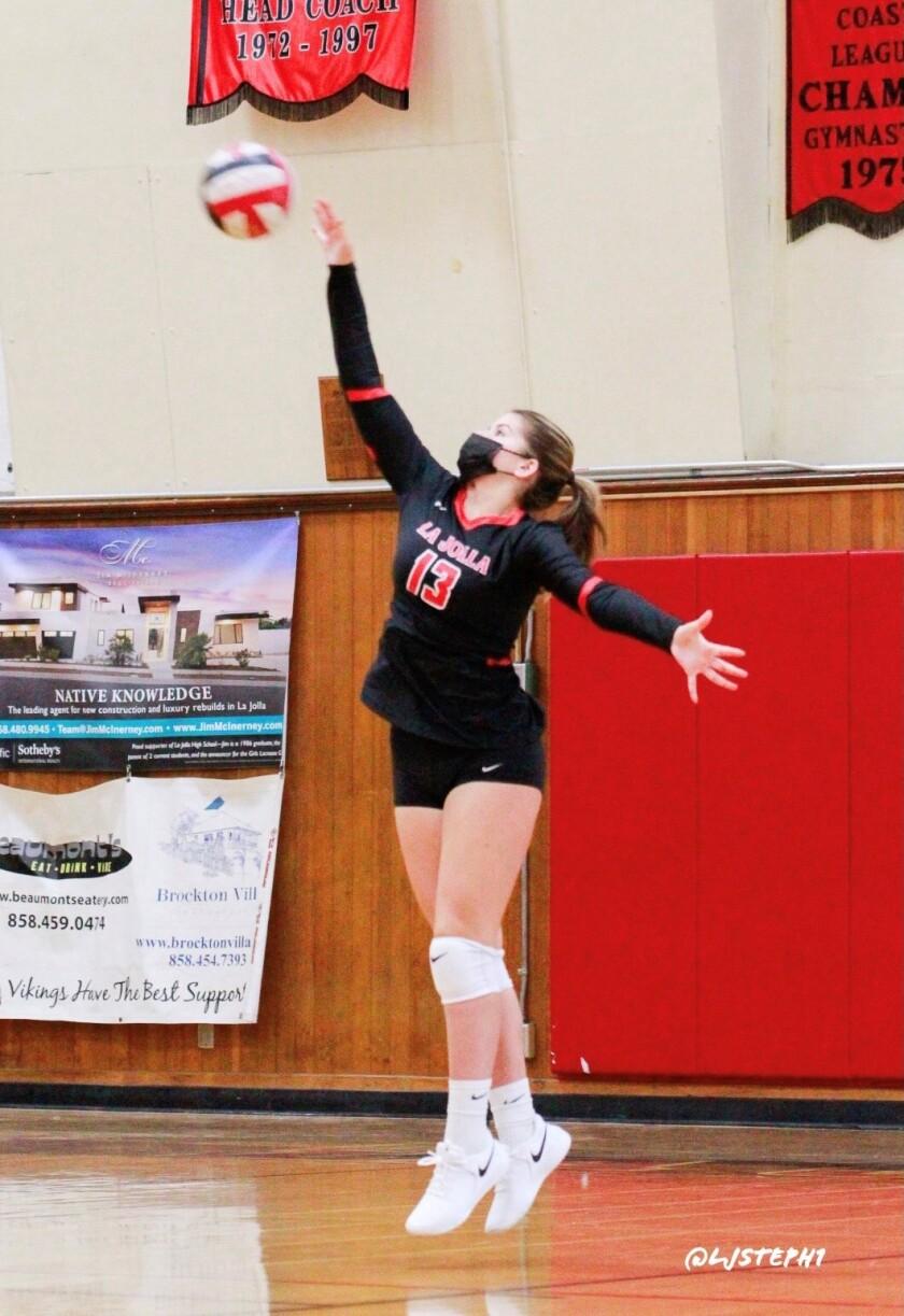 "La Jolla High School senior Kiana Wurtz says volleyball is ""a great environment,"" whether indoors on the beach."