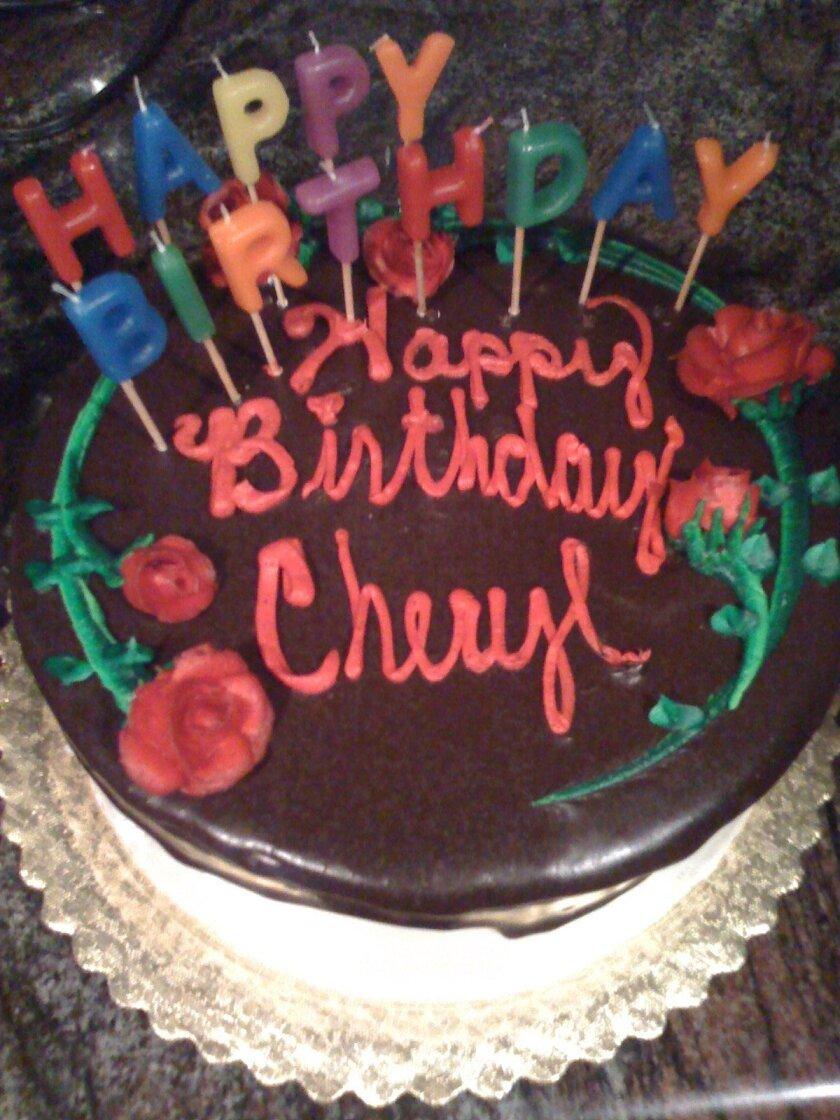 Happy birthday, Cheryl.