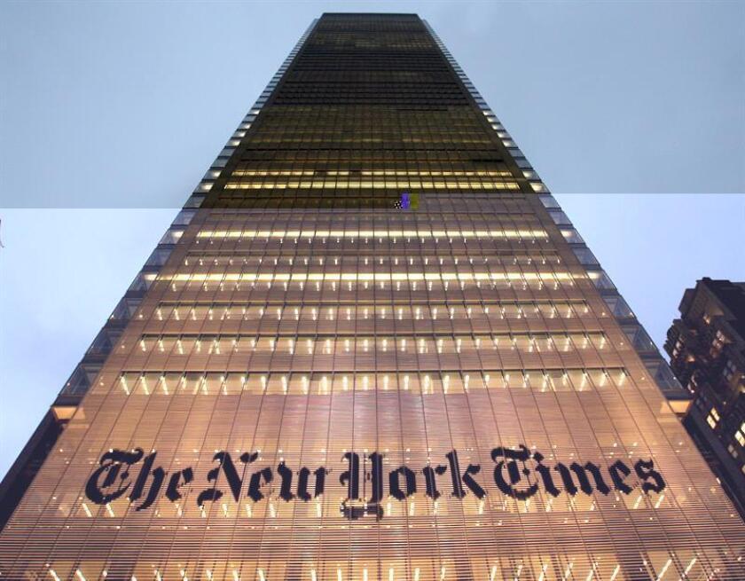 Las suscripciones netas al New York Times se incrementaron en 132.000 desde que Donald Trump ganó las elecciones presidenciales de Estados Unidos y hasta el pasado sábado, según informó hoy un directivo de ese diario. EFE/ARCHIVO