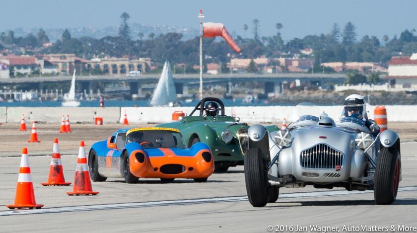 Racing next to beautiful San Diego Bay