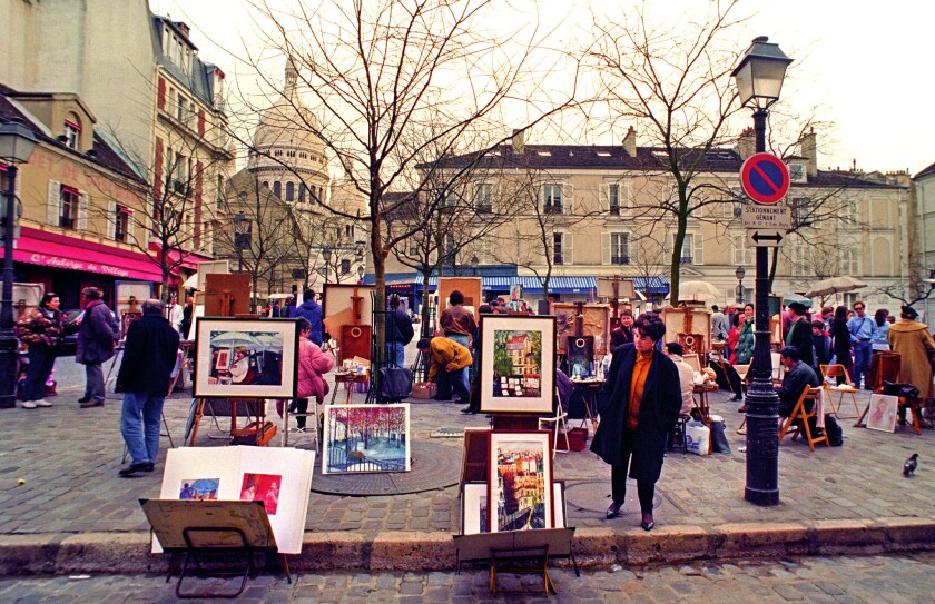 A visit to the Montmartre district of Paris is among the highlights of a writers retreat.