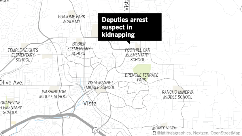 A 17-year-old girl was kidnapped in Vista