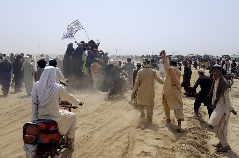 Supporters of the Taliban.