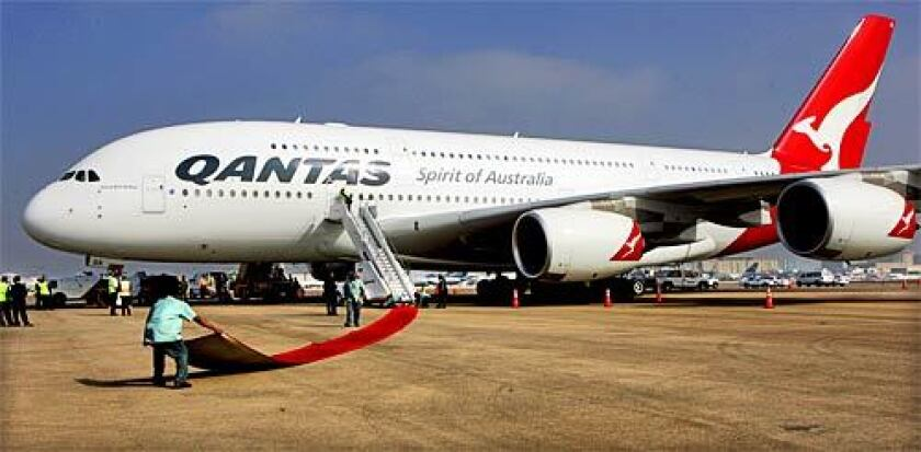 A Qantas A380s is shown in this file photo.