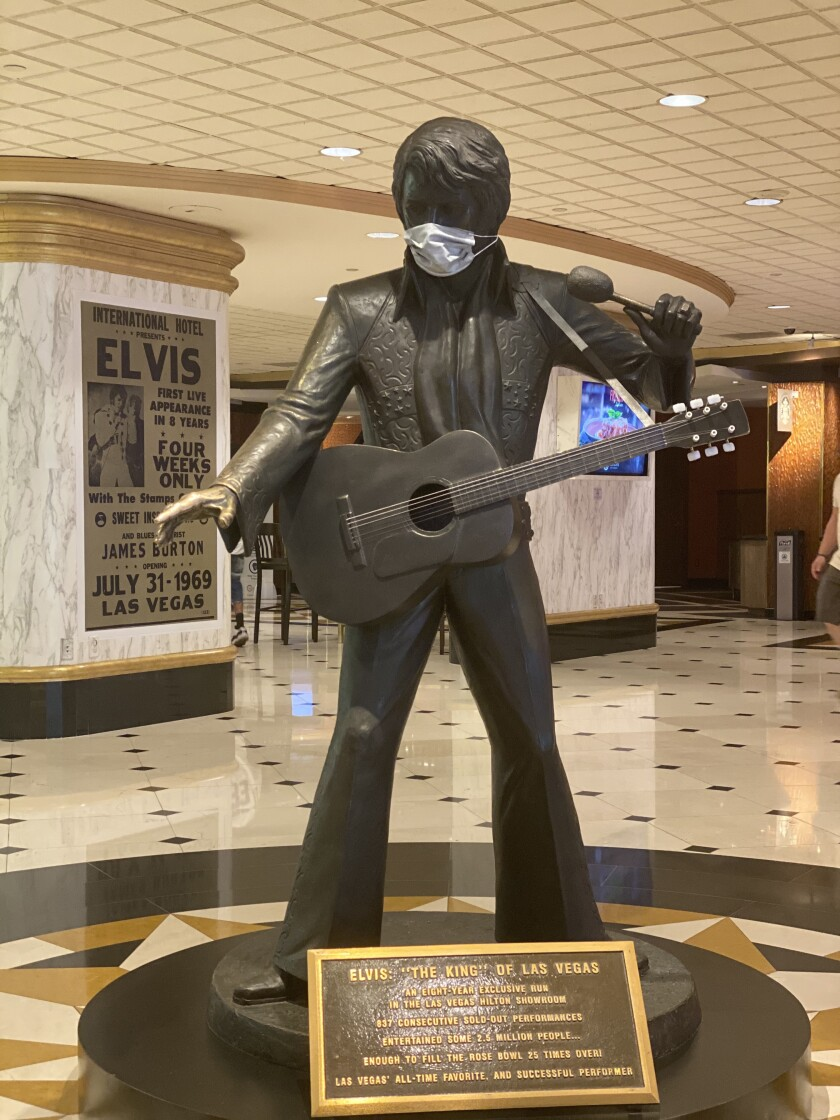 Masked Elvis is an Insta hit at the Westgate Las Vegas Resort & Casino.