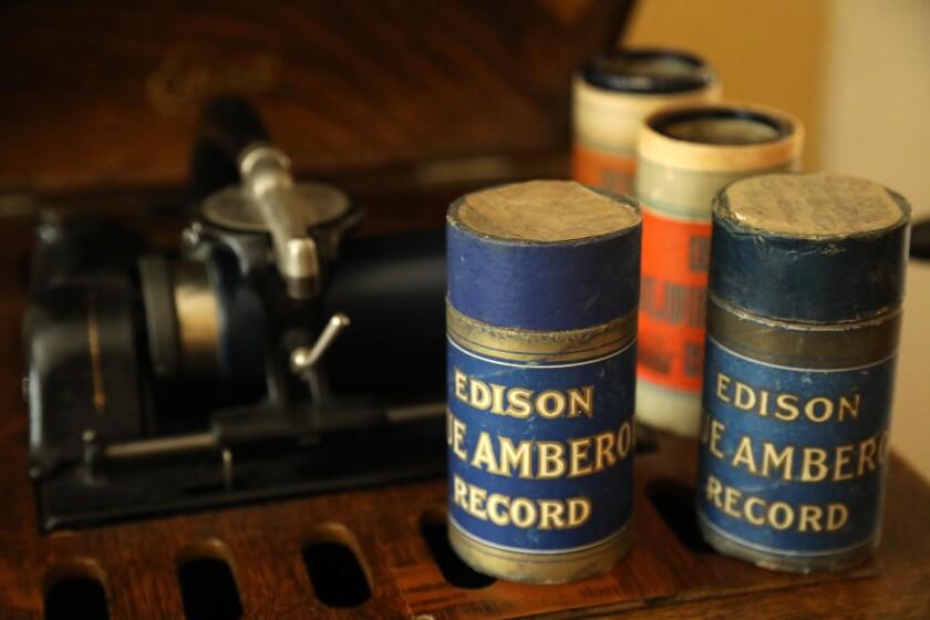 Edison wax cylinder recordings