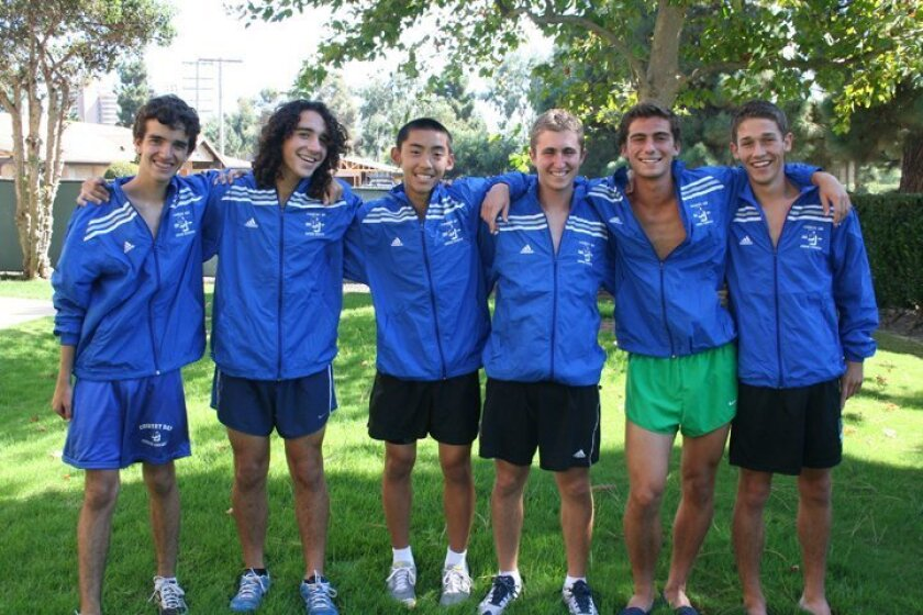 La Jolla Country Day's cross country team's top seven includes David Castillejos, Ariel Smotrich, Darin Wong, Jeff Clancy, Noah Wolfenzon and Jake Mack. Not pictured: J.J. Juarez-Uribe. Karen Billing photo