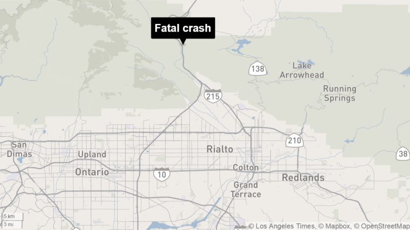 Fatal crash closes 15 Freeway southbound in Cajon Pass for