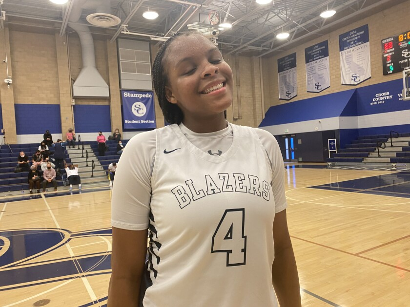 Freshman Mackenly Randolph scored 35 points for Sierra Canyon against Palisades on Monday.
