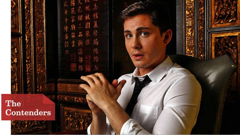 The Envelope: How Logan Lerman worked up the nerve to sock Brad Pitt