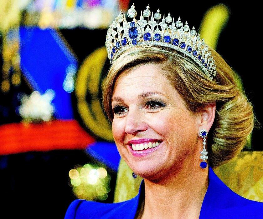 Máxima Zorreguieta lució la Tiara Mellerio durante la investidura de su esposo Willem-Alexander.