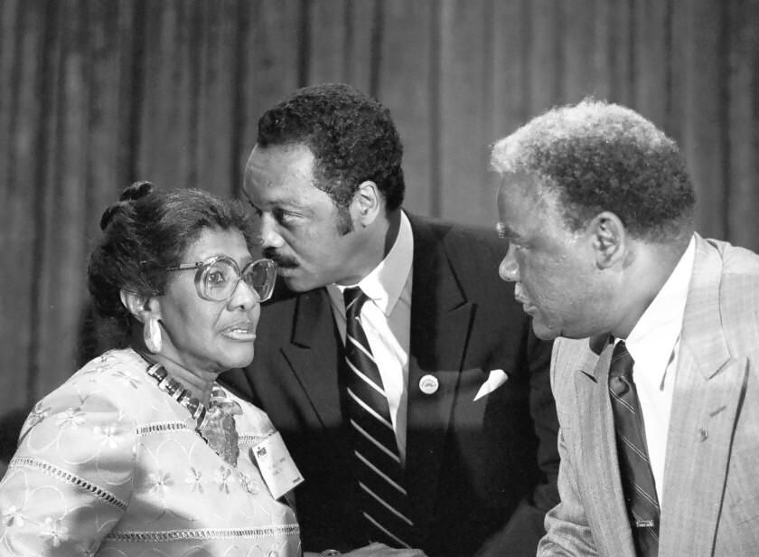 Willie T. Barrow, Jesse Jackson Jr., Harold Washington