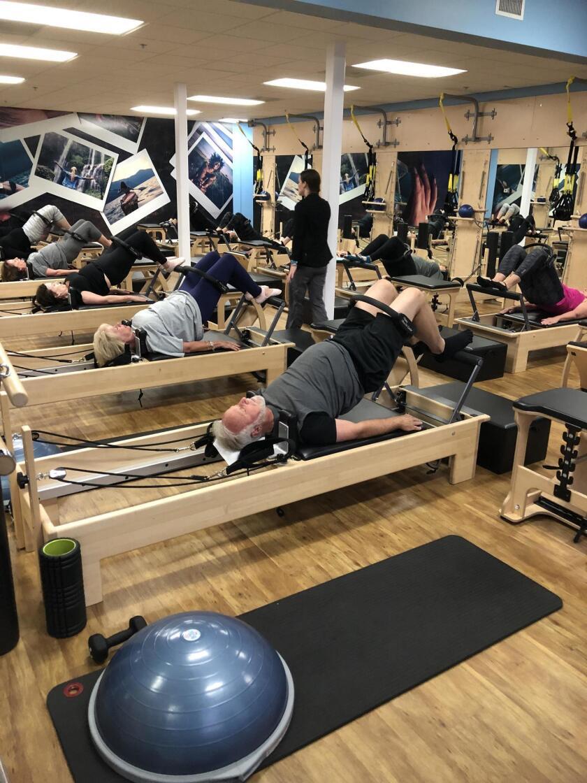 Bridge Ex group class at Club Pilates La Jolla