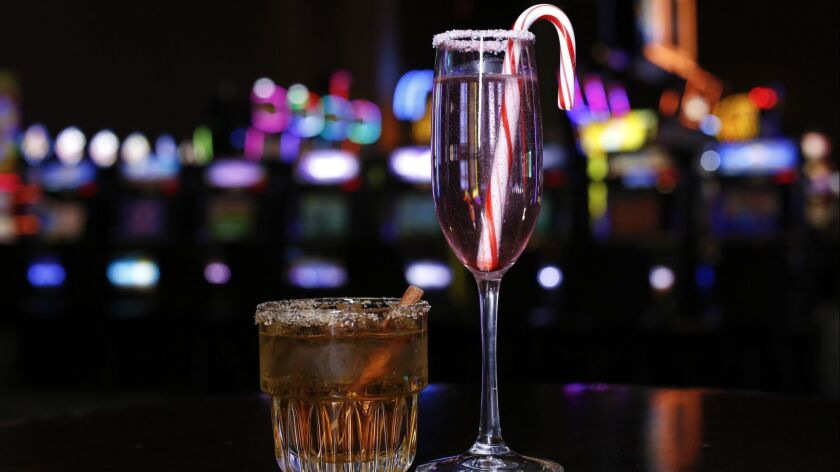 Holiday cocktails and branded casino gear at gift shops.