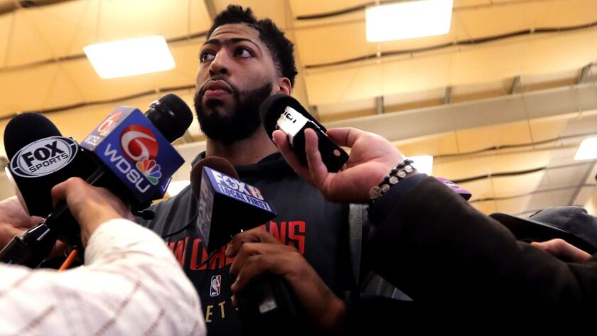 Forward Anthony Davis says it's time to move on from the New Orleans Pelicans and the Lakers are trying to acquire the six-time All-Star.