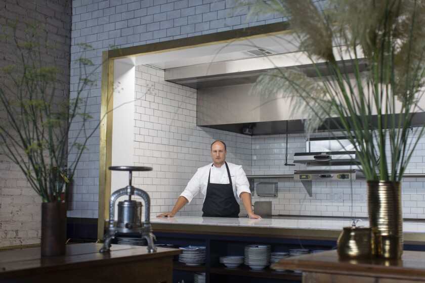 Chef Dave Beran in the kitchen at Pasjoli
