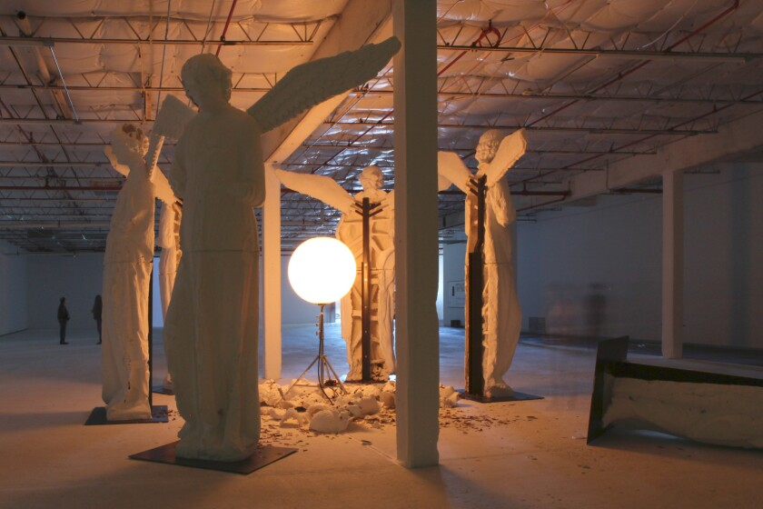 Installation view of Loris Gréaud's work at Dallas Contemporary