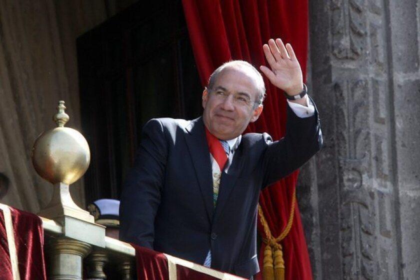 Outgoing Mexican President Felipe Calderon heading to Harvard