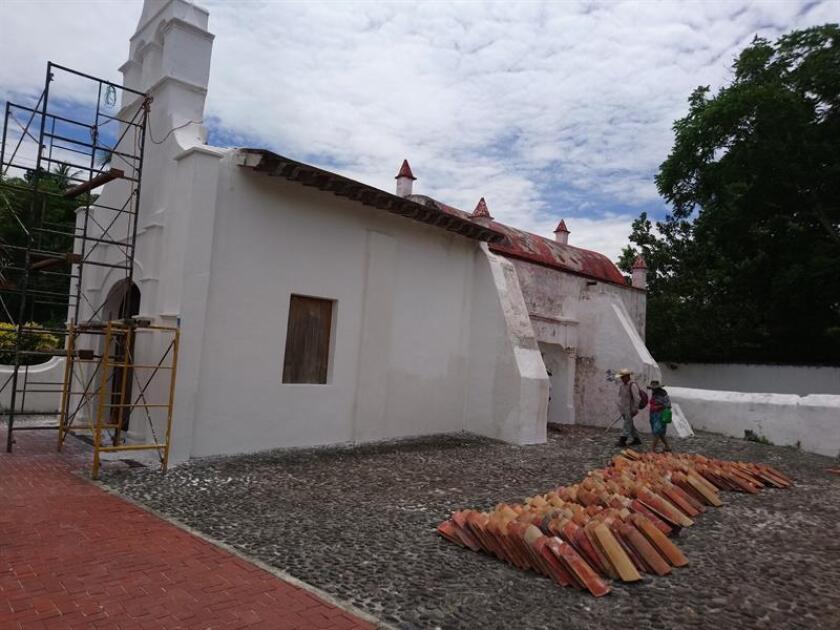 Fotografía que muestra el exterior de la Ermita del Rosario, en el municipio de La Antigua, en el estado de Veracruz (México). EFE