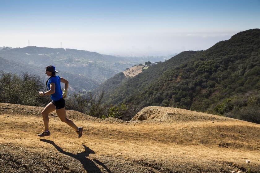 Sally McRae runs the Westridge Trail as she prepares for the 100-mile Western States Endurance Run.