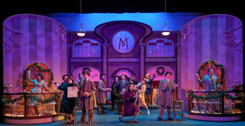 """The cast of San Diego Musical Theatre's """"She Loves Me."""""""