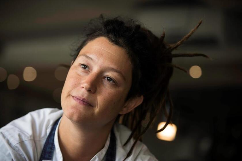 Chilean celebrity chef Carolina Bazan in an interview with EFE on Feb. 27, 2019 in Santiago, Chile. EPA- EFE/Alberto Valdés