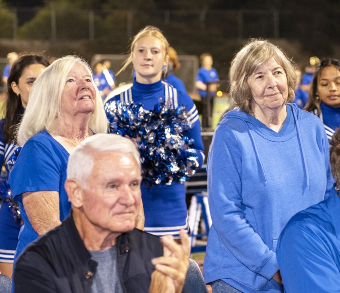Retired staff members Carole Morton and Sharon Foley