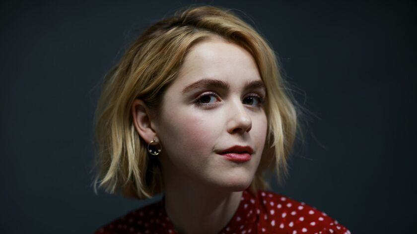 NEW YORK, N.Y. -- MONDAY, OCTOBER 15, 2018: Kiernan Shipka who stars in the upcoming Netflix series,