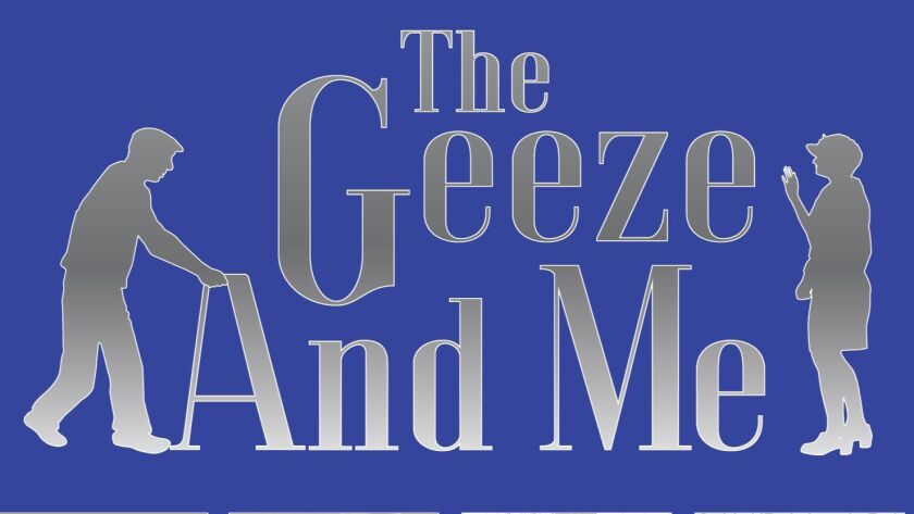 """""""The Geeze and Me"""" is on stage March 31-April 29 at The Tenth Avenue Arts Center in downtown San Diego."""