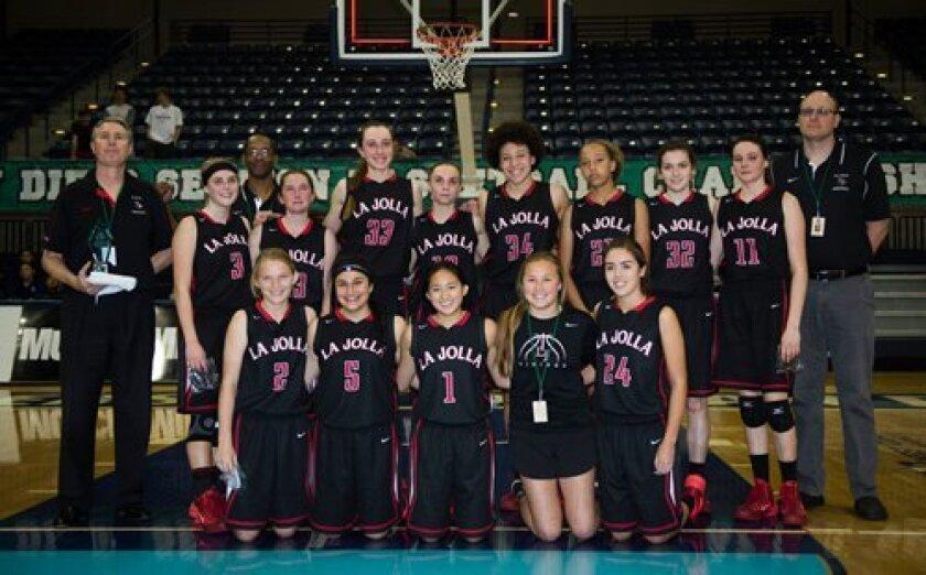 La Jolla Hish School's Vikings girls basketball team are 2014 Division III CIF runner-ups. Ed Piper