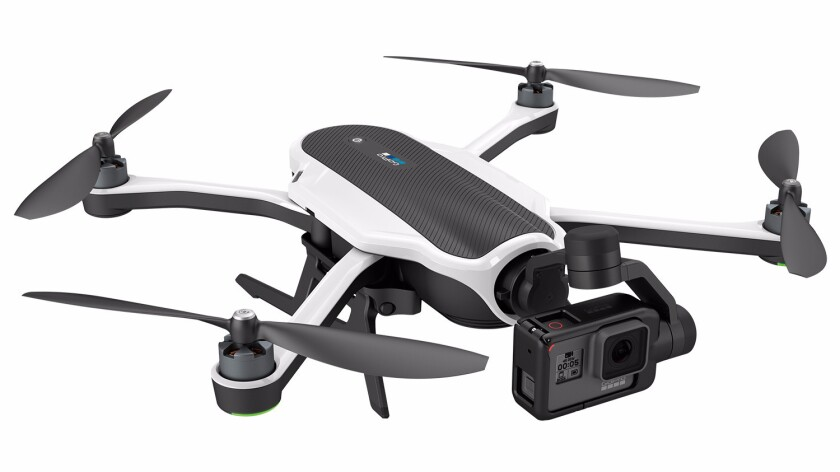 Karma is a small quadcopter designed to hold GoPro action camcorders.