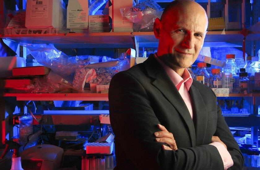 Juan Carlos Izpisua Belmonte in his Salk lab.