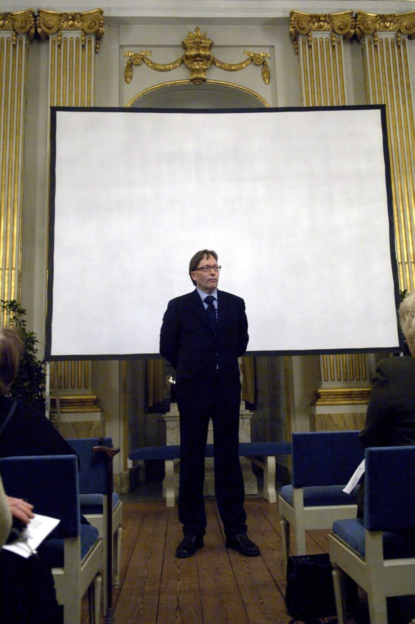 Horace Engdahl in 2005 as permanent secretary of the Swedish Academy, which awards the Nobel Prize.