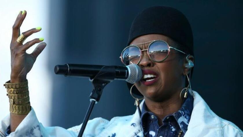 Lauryn Hill performs at Soundset at the State Fairgrounds in Falcon Heights, Minn., Sunday, May 28, 2017 (Photo by (Jeff Wheeler/Star Tribune via AP)