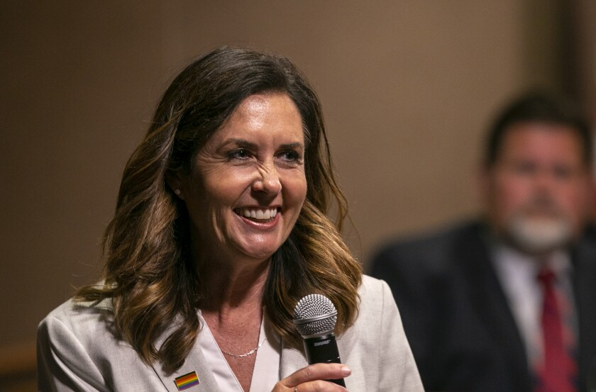Huntington Beach Mayor Kim Carr is one of five City Council members targeted in a recall effort.