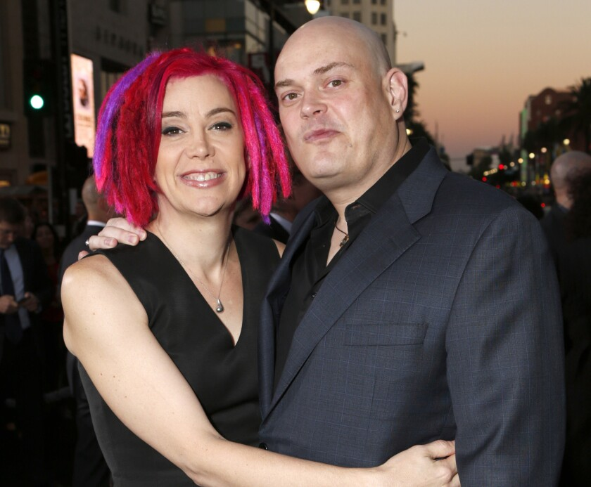 """Co-directors Lana Wachowski and Andy Wachowski at the Los Angeles premiere of """"Cloud Atlas"""" on Oct. 24, 2012. Four years after """"Matrix"""" filmmaker Lana Wachowski revealed that she was transgender, her sibling and filmmaking partner formerly known as Andy Wachowski has come out as transgender too. Her name, according to a statement issued to the Windy City Times, is Lilly."""