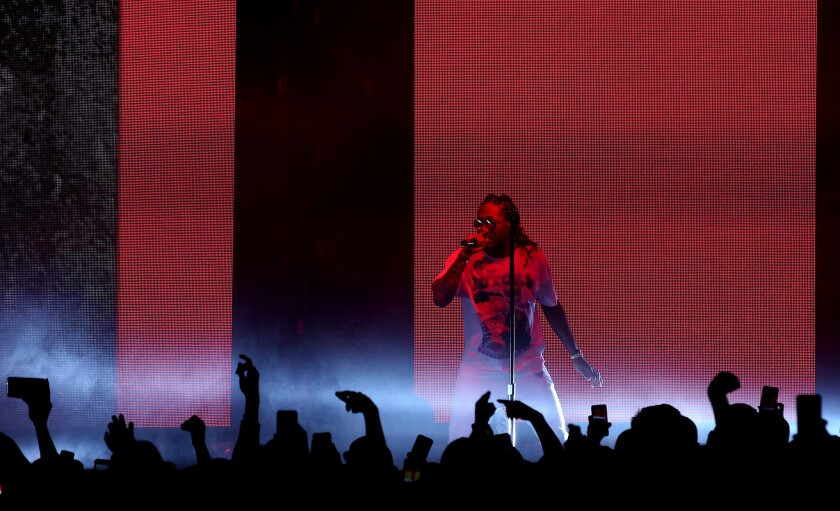 Future at his sold-out show Friday night at the Palladium in Hollywood.
