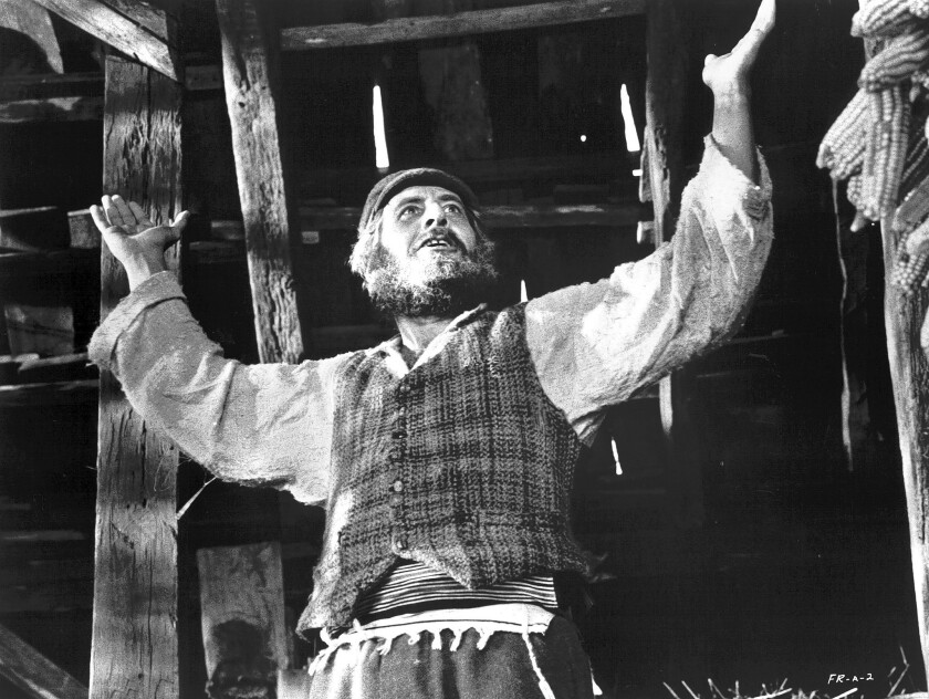 Topol stars in the movie 'Fiddler on the Roof'