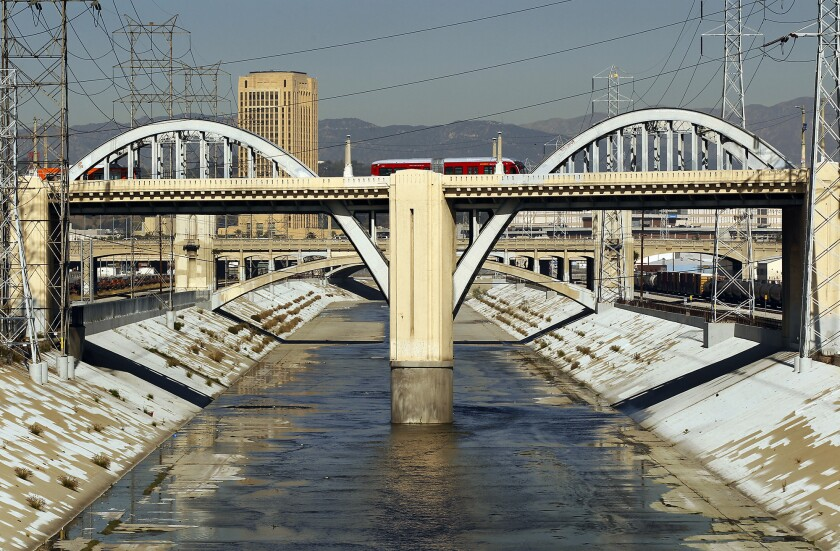 The aging 6th Street Viaduct over the Los Angeles River.