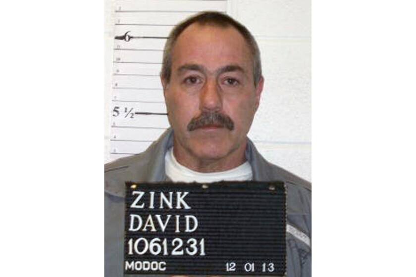 Esta foto del 1 de diciembre de 2013 provista por el Departamento Penitenciario de Missouri muestra a David Zink, condenado por el secuestro y muerte de Aamnda Morton, de 19 años, en 2001. (Missouri Department of Corrections via AP)