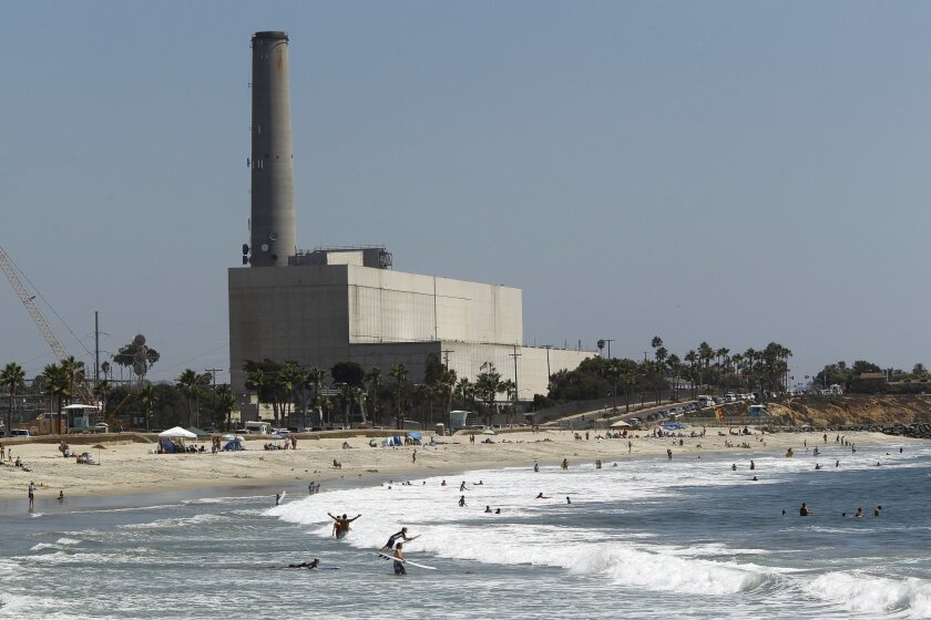 The Encina Power Station in Carlsbad on Thursday.