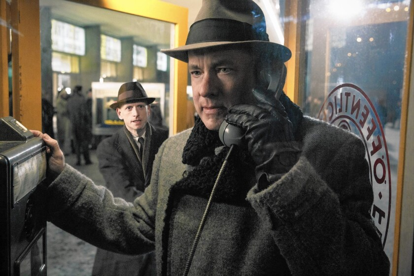 """Tom Hanks in """"Bridge of Spies,"""" from DreamWorks Pictures/Fox 2000 Pictures."""