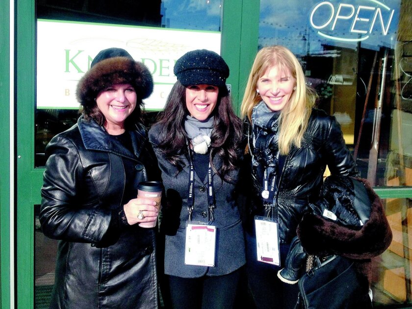 Moms With Issues (from left): Pat Hughes, Kathryn Brinton and Carol Tager at the Sundance Film Festival in Utah.