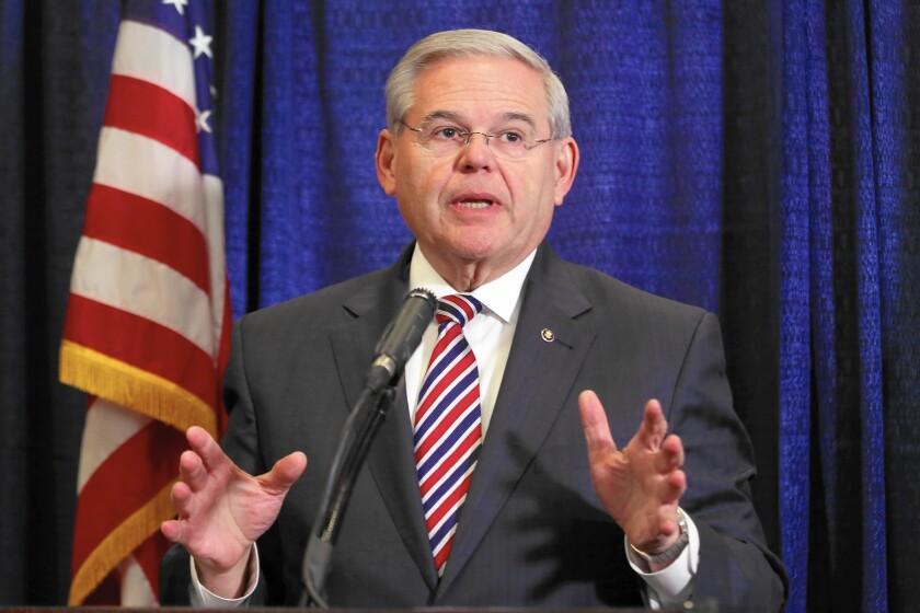 Sen. Robert Menendez has vowed his innocence of federal bribery charges.